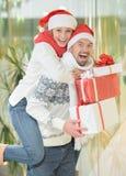 julpar Fotografering för Bildbyråer