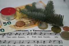 Julpengar - 13na thlön Arkivfoto