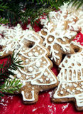 Julpepparkakakaka Arkivfoton