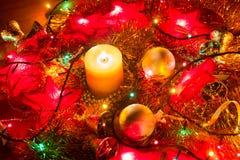Julpersonalbakgrund Arkivbild
