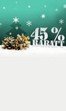 Julpineconeträd 45 procent Rabatt rabatt Fotografering för Bildbyråer