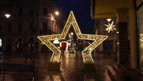 JulPiotrkowska gata i Lodz, Polen 4k lager videofilmer