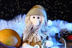 Julplats med leksakgarneringar Nya år feriebegrepp Royaltyfria Bilder