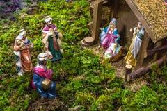 Julplats - Nacimiento Arkivbild