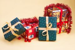julpresentsweihnachtsgeschenk Fotografering för Bildbyråer