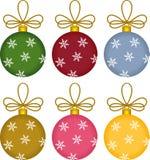 Julprydnadar för Glass boll Arkivbilder
