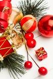 Julprydnader för trädet Royaltyfria Foton