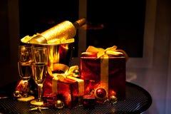 Julprydnader, lycklig glad jul Arkivfoton