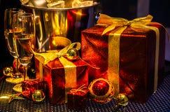 Julprydnader, lycklig glad jul Fotografering för Bildbyråer