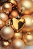 Julprydnader: 50 skuggor av guld Arkivbilder