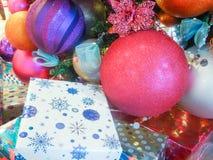 Julpynt för semesterperiod Arkivfoto