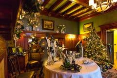 Julpynt i den Pittock herrgården Royaltyfria Foton