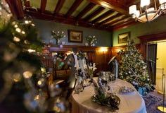 Julpynt i den Pittock herrgården Royaltyfri Fotografi