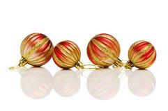 Julpynt i festligt Arkivbild