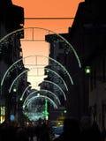 Julpynt i mitten av Florence Arkivfoto