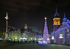 Julpynt i Warsaw Fotografering för Bildbyråer