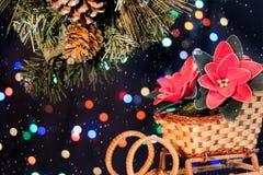 Julpynt med snön Royaltyfri Foto