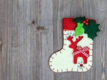 Julpynt och socka på wood bakgrund Härliga Chr Royaltyfria Bilder
