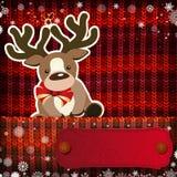 Julpynt på handgjord stucken bakgrund stock illustrationer