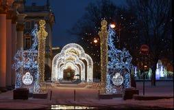 Julpynt på vinterslotten royaltyfri foto
