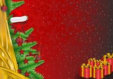 Julpyntgränsbakgrund royaltyfri foto