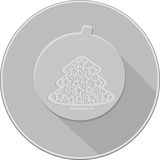 Julpyntsymbol skuggor av grå färger Fotografering för Bildbyråer