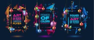 Julramar för lyckligt för dina säsongsbetonade reklamblad, lodisar för nytt år Royaltyfria Bilder