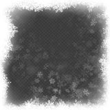 Julrameffekt med vitt glöda ljust och snöflingor 10 eps vektor illustrationer