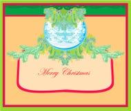 Julramen utformar kortet. Royaltyfria Foton
