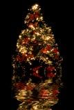 julreflexionstree royaltyfria bilder