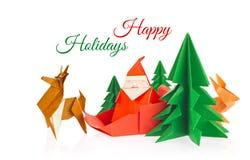 Julreklamblad av origami arkivfoton