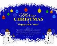 Julreklamblad med dekorativa beståndsdelar på en mörk bakgrund också vektor för coreldrawillustration Fotografering för Bildbyråer