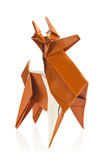 Julren av origami Arkivfoton