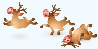 Julrensamling vektor illustrationer