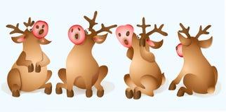Julrensamling stock illustrationer