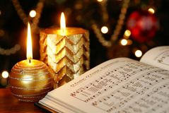 Julsång Fotografering för Bildbyråer