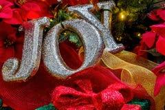 Juls GLÄDJE' meddelande Royaltyfri Foto