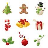 Julsaker stock illustrationer