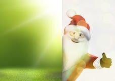 JulSanta Claus tummar upp festlig 3d framför grafisk bild Royaltyfri Bild