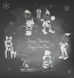 JulSanta Elf design stock illustrationer