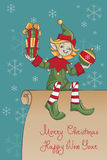 JulSanta Elf design vektor illustrationer