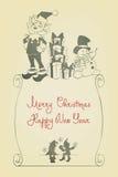 JulSanta Elf design Arkivbilder