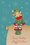 JulSanta Elf design royaltyfri illustrationer
