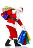 julsanta shopping Arkivfoto