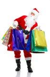 julsanta shopping Royaltyfria Bilder
