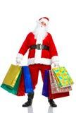 julsanta shopping Arkivbild