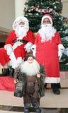 julsatssutveckling santa royaltyfri bild