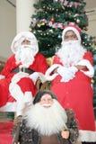 julsatssutveckling santa arkivfoto