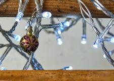 Julsfär med vita ljus fotografering för bildbyråer