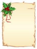 Julsida Arkivbild